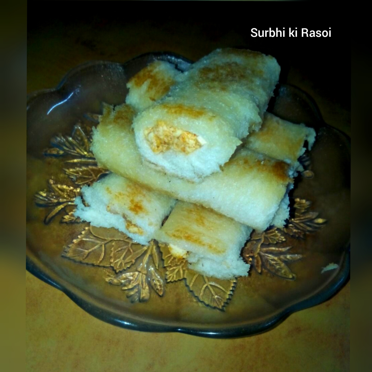 BREAD PANEER ROLLS - Recipe No. 25