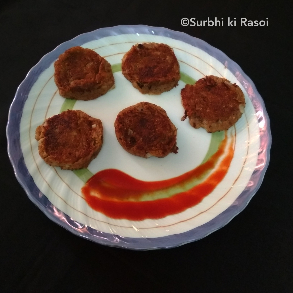 RAJMA CUTLET /KIDNEY BEANS CUTLET - Recipe No. 33
