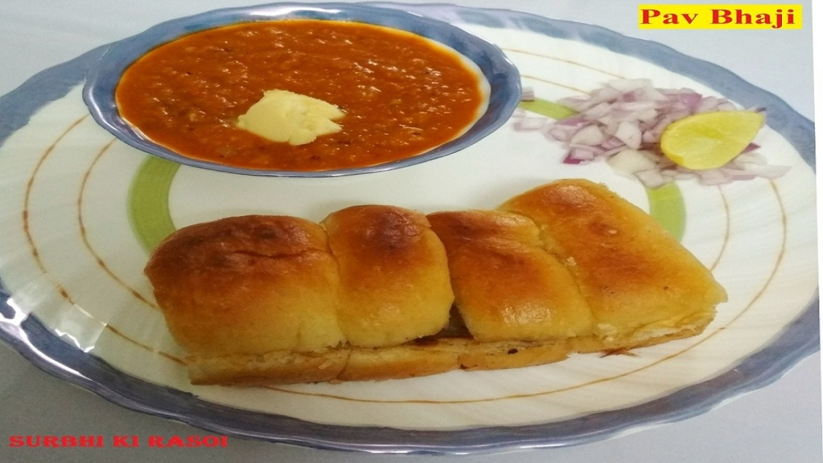 Pav Bhaji | Popular Street Food of India | How to make Pav Bhaji at Home in a Easy Way - Recipe No. 57