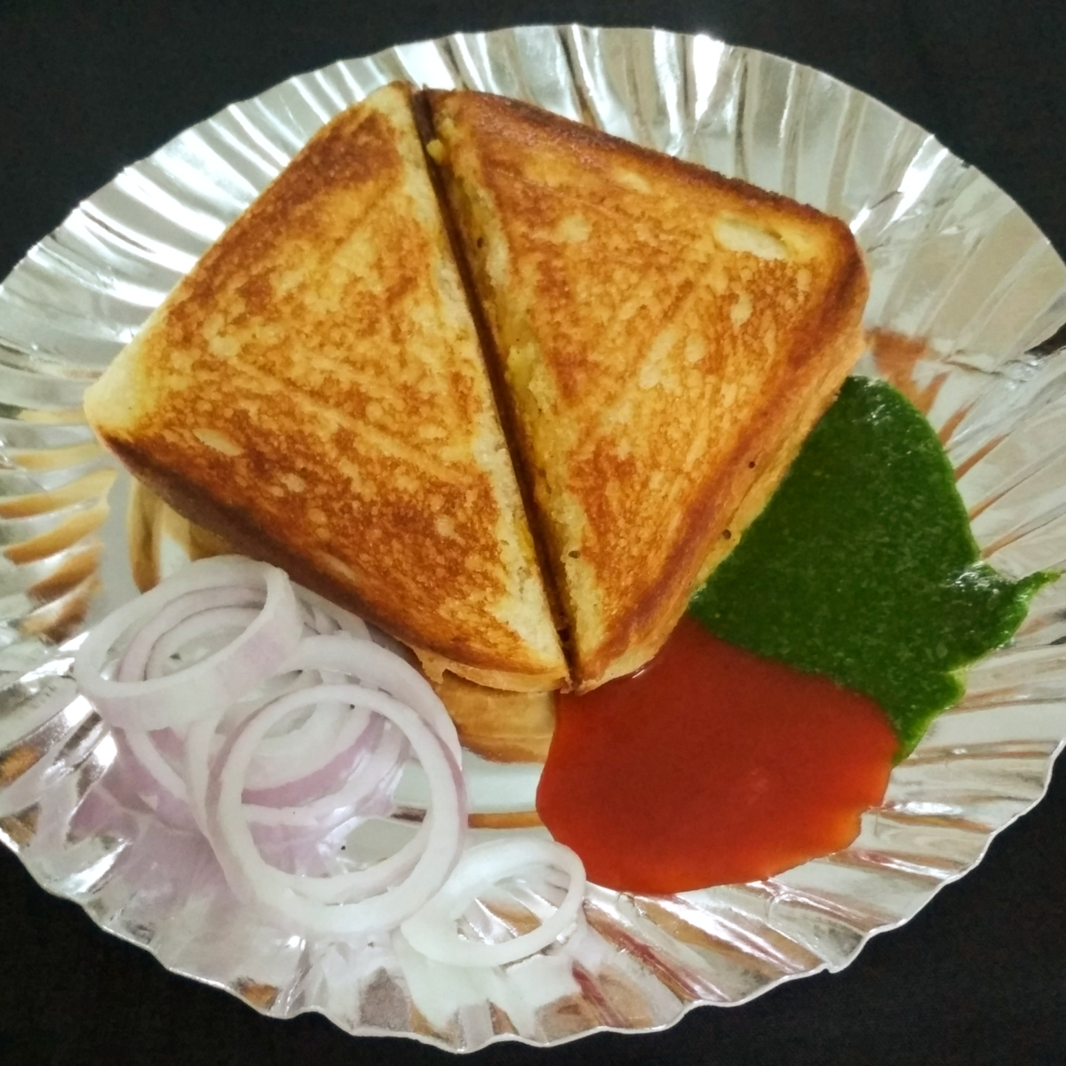 Aloo Matar Sandwich | Masala Sandwich | Bombay Masala Sandwich | Recipe No. 80