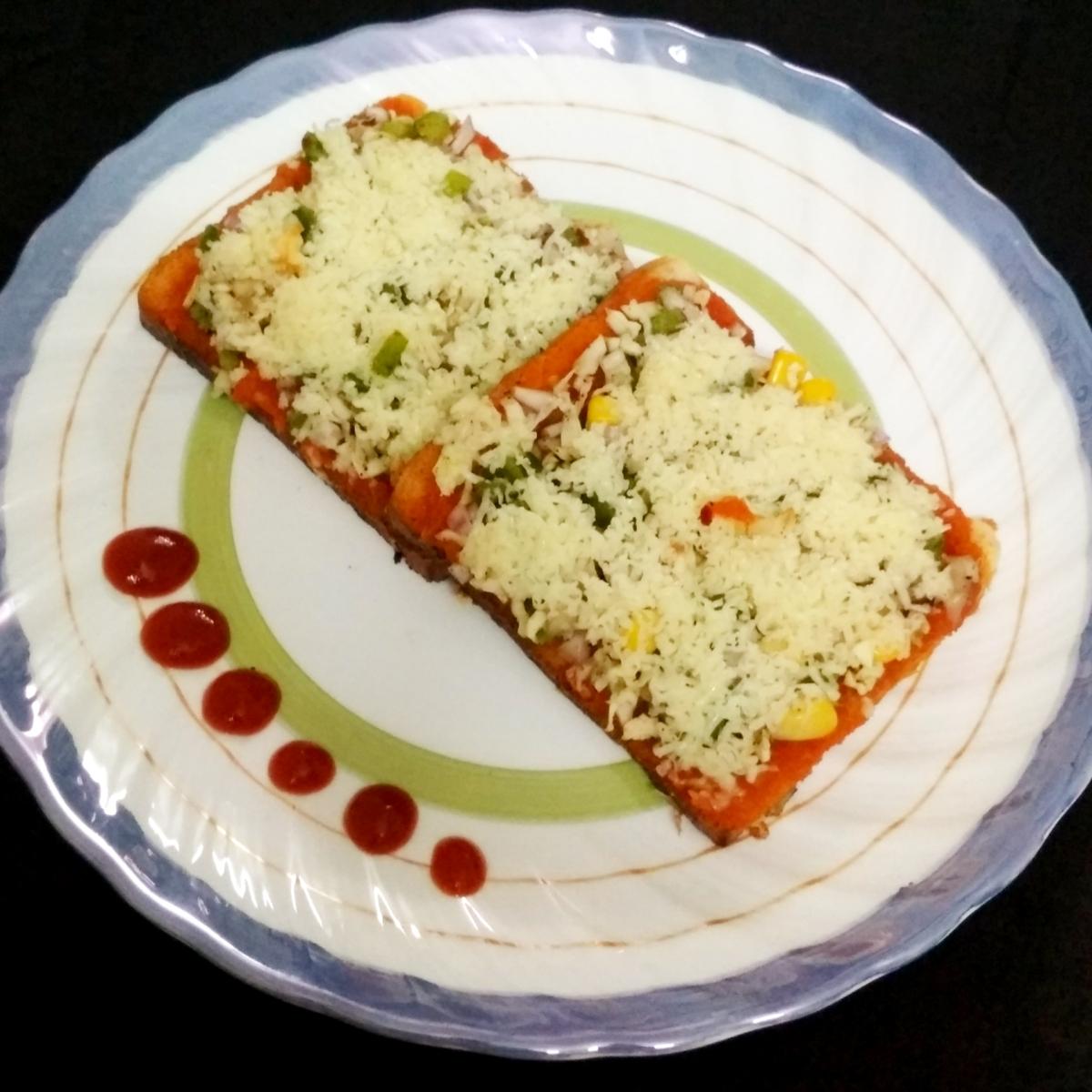 Bread Pizza | Quick and Easy Recipe of Pizza | Recipe No. 94